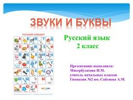 """Русский язык """"Звуки и буквы"""""""