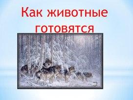 """Презентация к уроку по окружающему миру  """"Как животные зимуют?"""""""