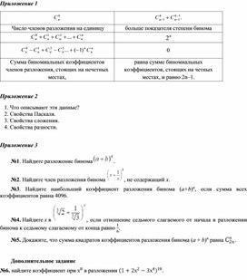 Алгебра_9.1В_Бином Ньютона_Приложение 1-3
