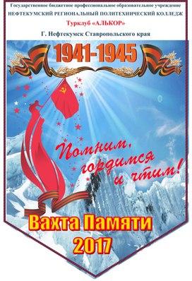 Вымпелы похода Вахта Памяти