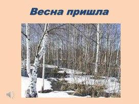 """Презентация к уроку литературного чтеня """"Весна пришла"""" 3 класс"""