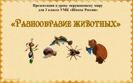 """Презентация по теме """"разнообразие животных"""""""