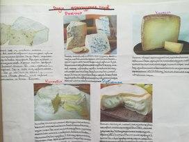 Информационный плакат о различных видах сырах Франции. (предмет: французский язык)