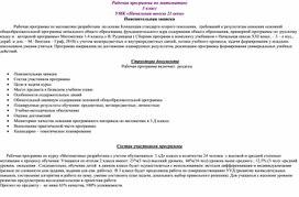 """Рабочая программа по математике  УМК """"21 век"""" 3 класс"""