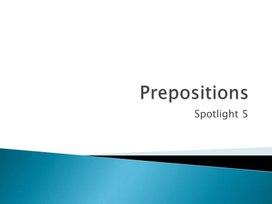 """Презентация по английскому языку """"Предлоги места"""" (Spotlight 5)"""