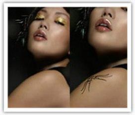 """Урок """"Нанесение татуировки на кожу"""" в программе Adobe Photoshop"""