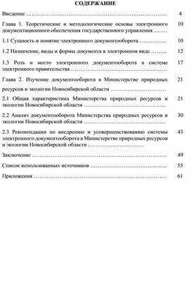 Внедрение электронного документооборота в государственном органе (на примере Министерства природных ресурсов и экологии Новосибирской области).