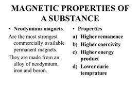 PHY_10_57_V1_P_Magnetic properties of a substance