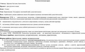 Конспект урока русский язык