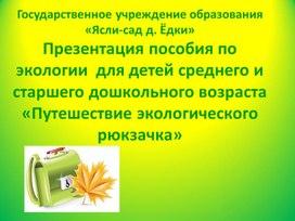 """Экологическое пособие """"Путешествие экологического рюкзачка"""""""