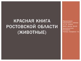 Красная книга ростовской области(ЖИВОТНЫЕ)