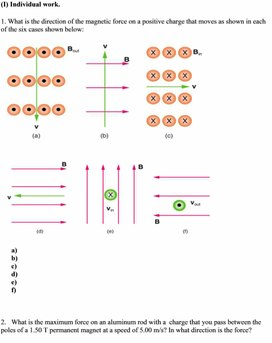 1Motion of a charged particle in the magnetic field