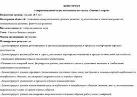 """Конструкт театрализованной игры сказка """"Зимовье зверей"""""""