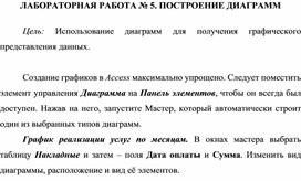 ЛАБОРАТОРНАЯ РАБОТА № 5. ПОСТРОЕНИЕ ДИАГРАММ