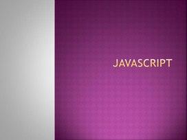 Презентация Язык программирования Java Script