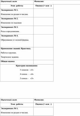 Конспект урока по теме: «Краткая форма качественных прилагательных»(3 класс, русский язык)