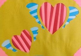 """Поделка """"Любящие сердца"""" в технике Айрис-Фолдинг"""
