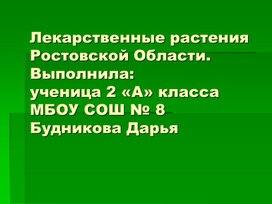 """Презентация """"Лекарственные растения Ростовской области"""" 2-А класс Будникова Дарья"""