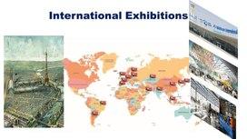 """Презентация """"International Exhibitions"""", 1 курс СПО"""