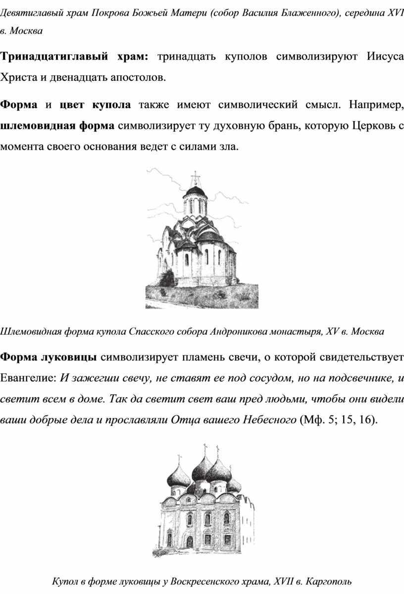 Девятиглавый храм Покрова Божьей