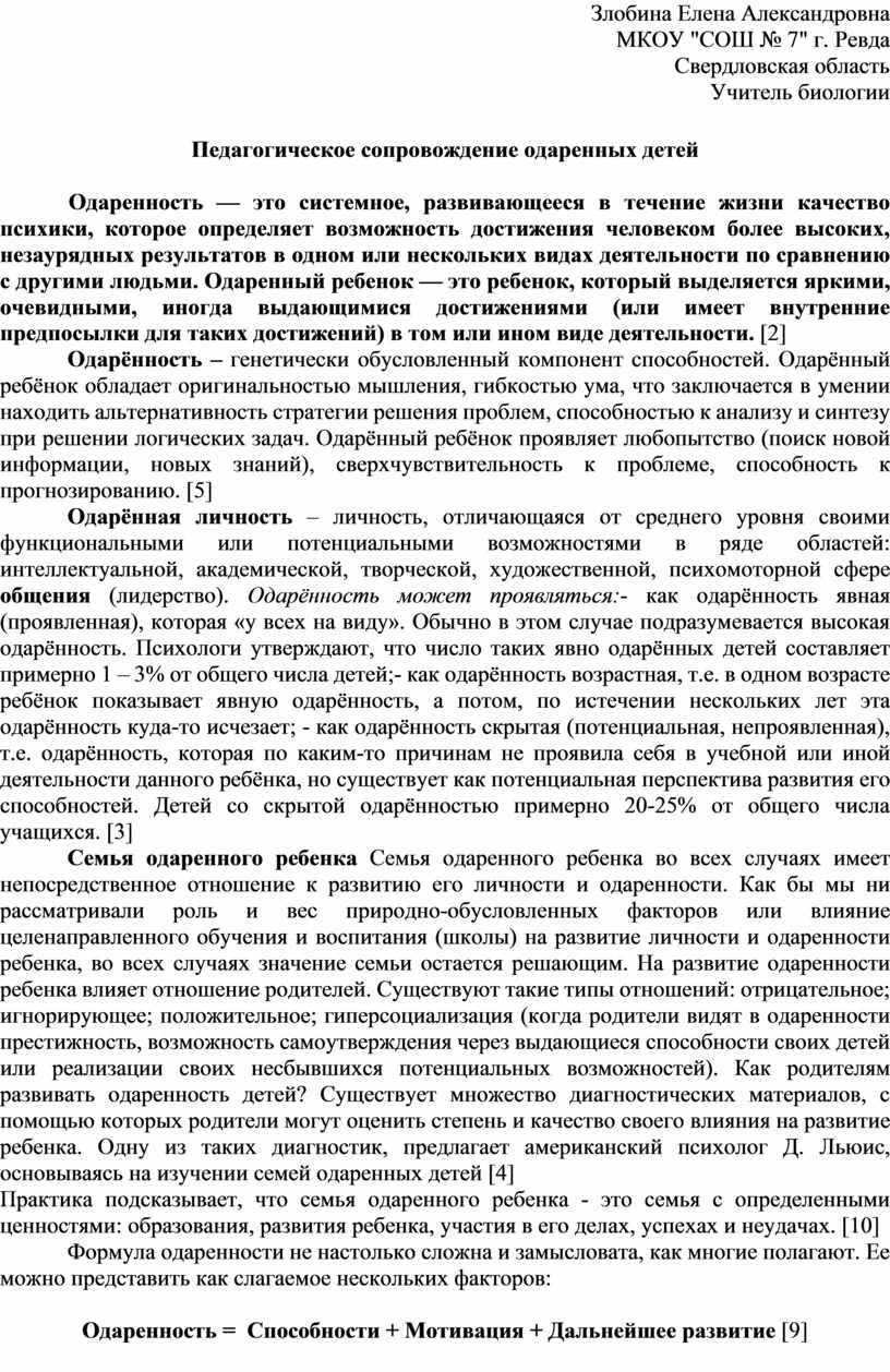 Злобина Елена Александровна