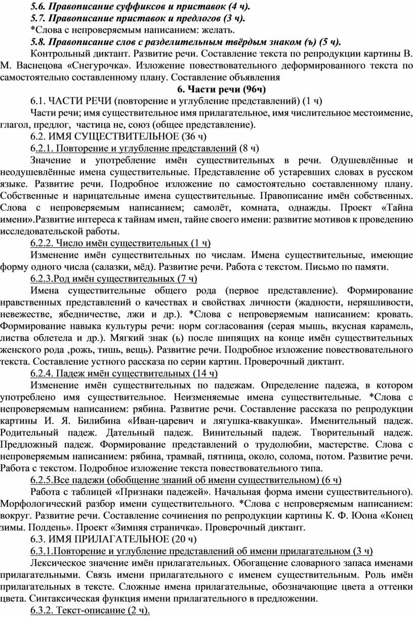 Правописание суффиксов и приставок (4 ч)
