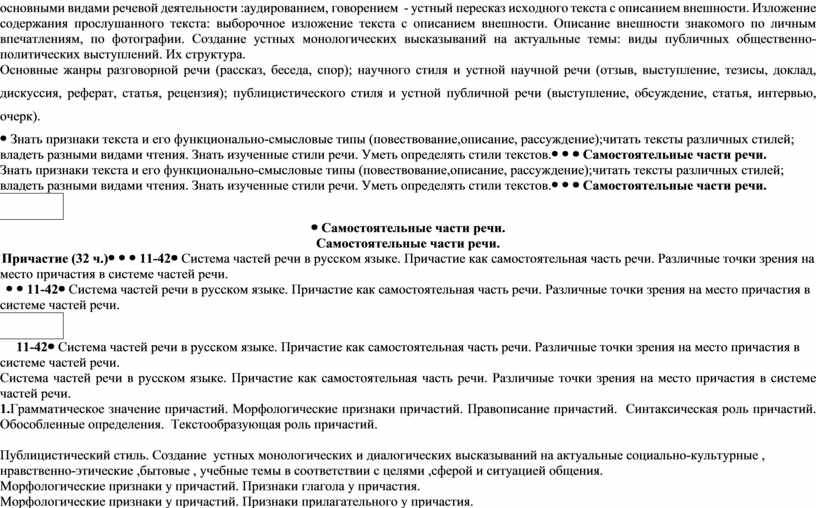 Изложение содержания прослушанного текста: выборочное изложение текста с описанием внешности