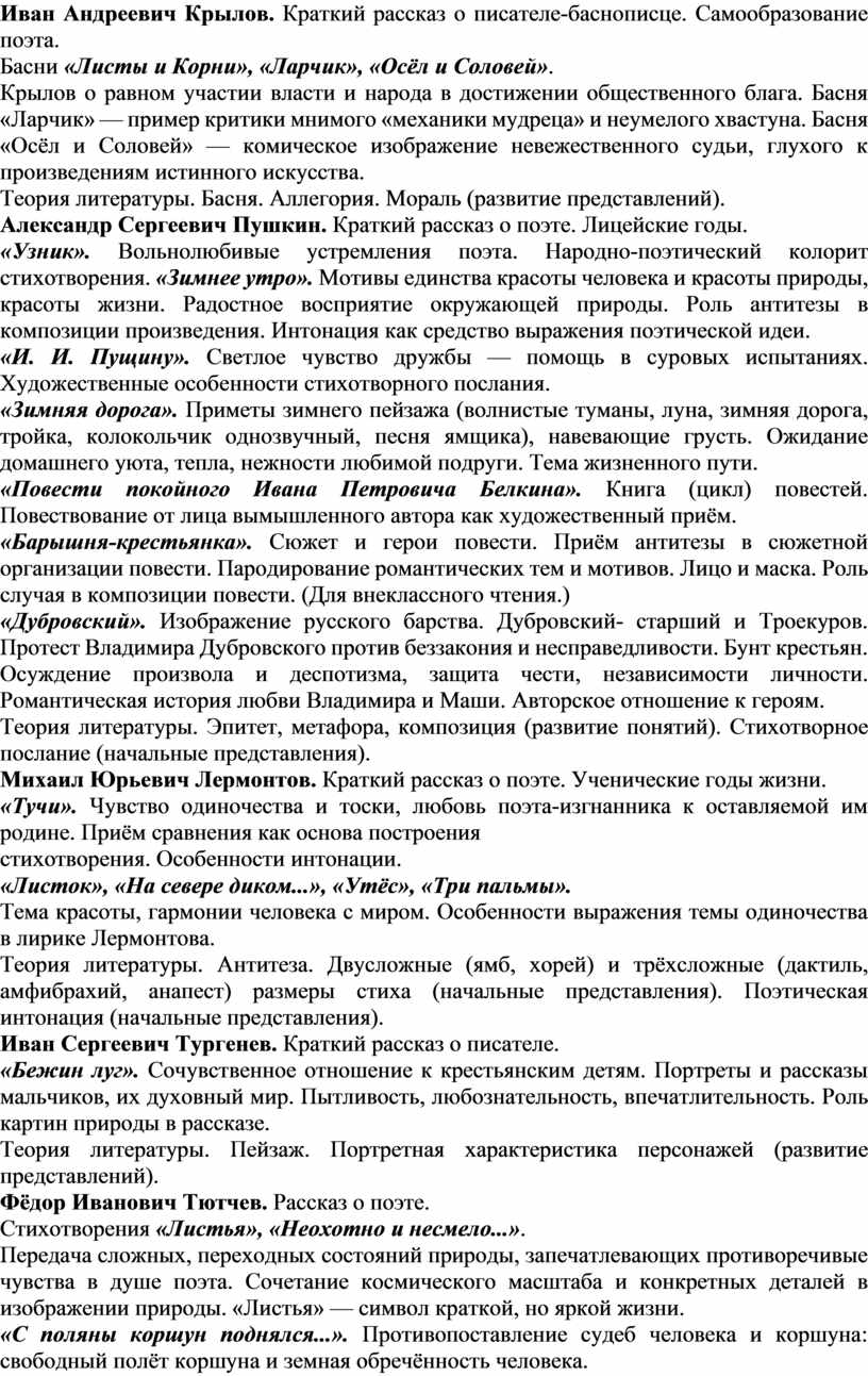 Иван Андреевич Крылов. Краткий рассказ о писателе-баснописце