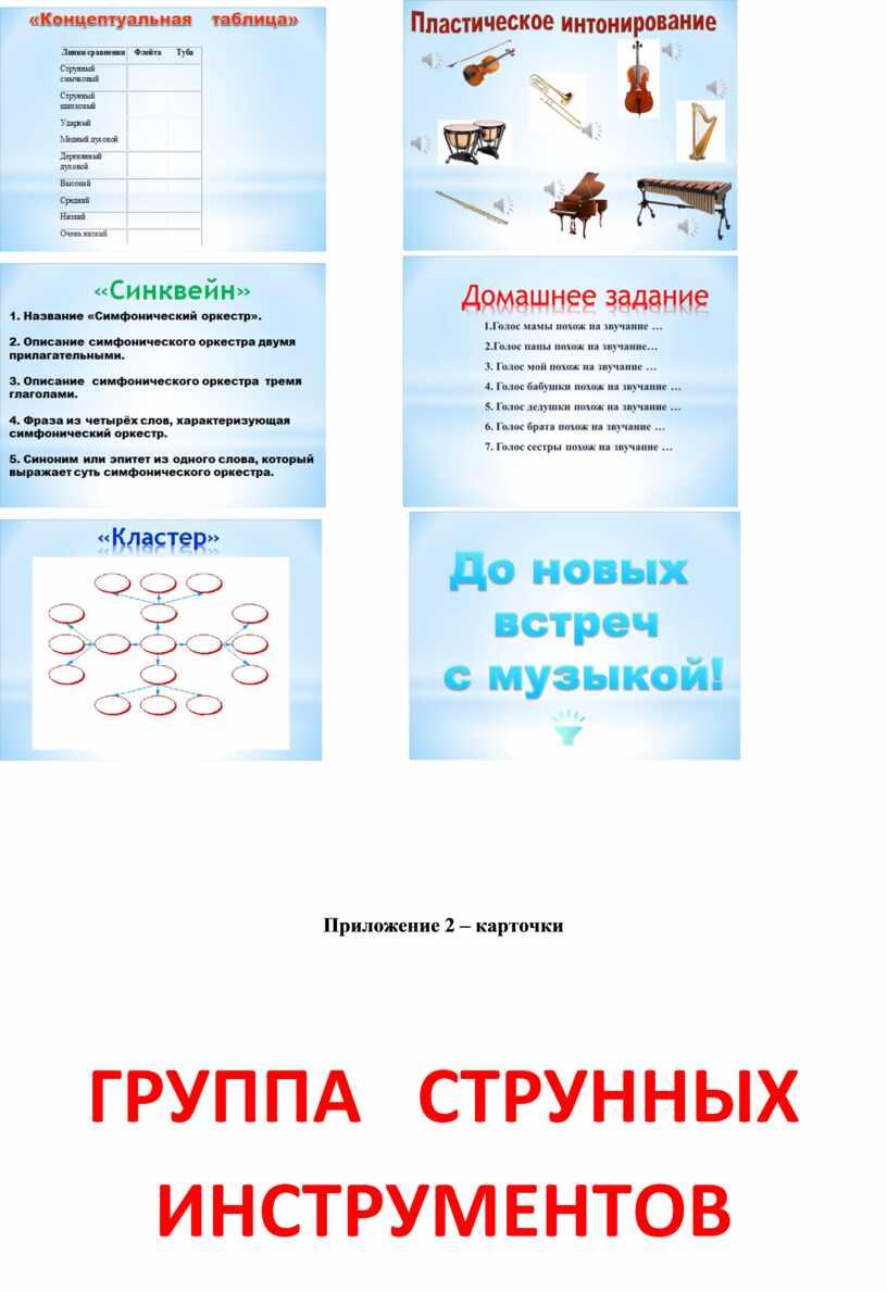 Приложение 2 – карточки ГРУППА