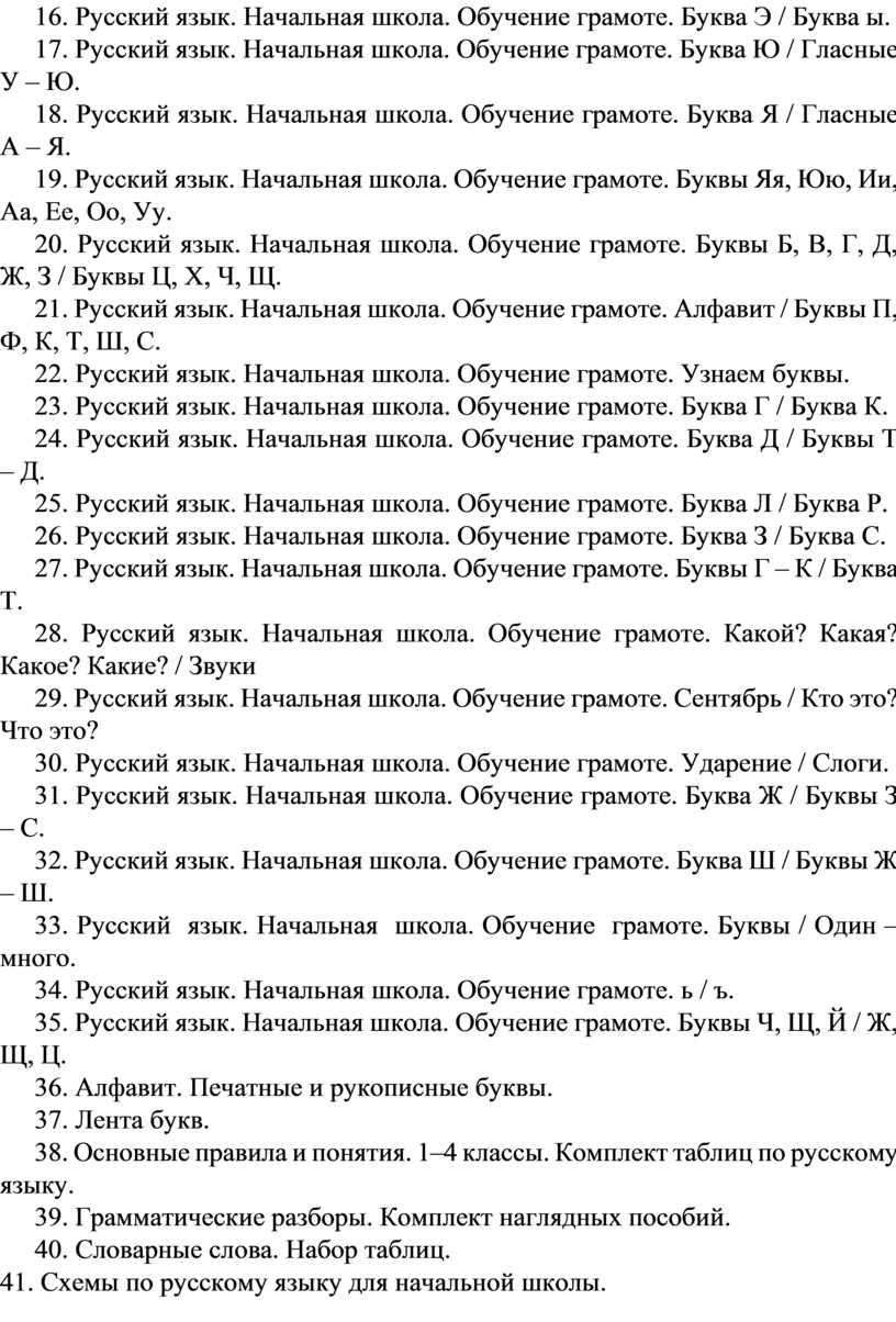 Русский язык. Начальная школа.