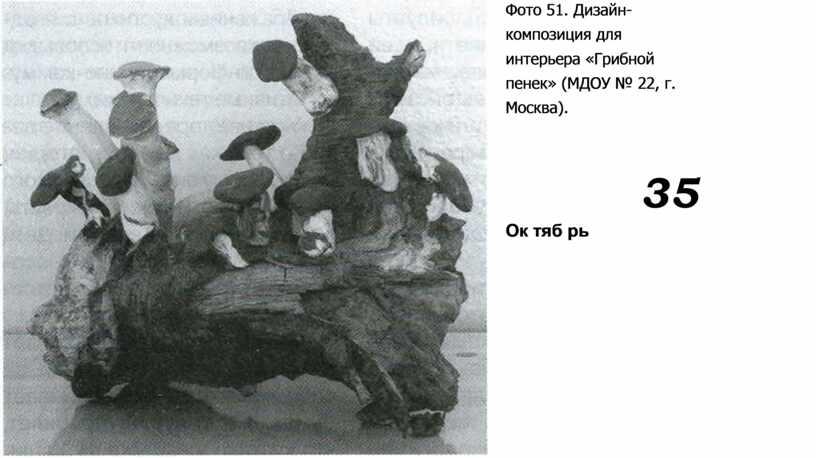 Фото 51. Дизайн-композиция для интерьера «Грибной пенек» (МДОУ № 22, г