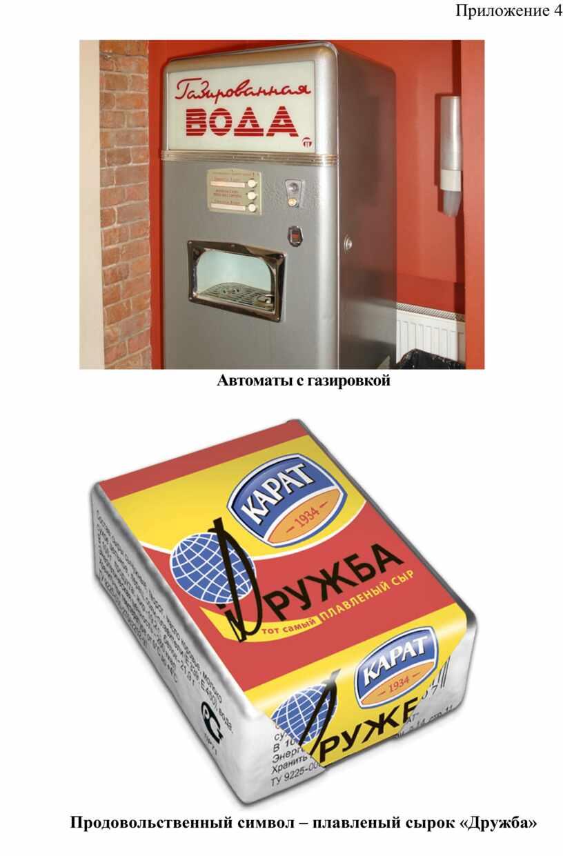 Приложение 4 Автоматы с газировкой