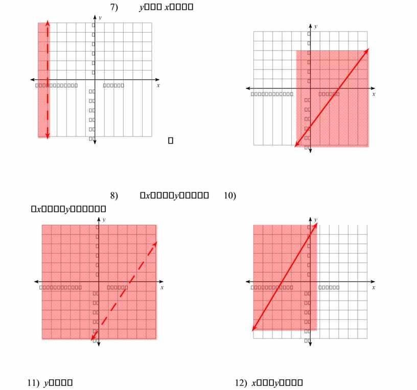 7) y  x   8)  x  y  10)  x  y  11) y  12) x  y…