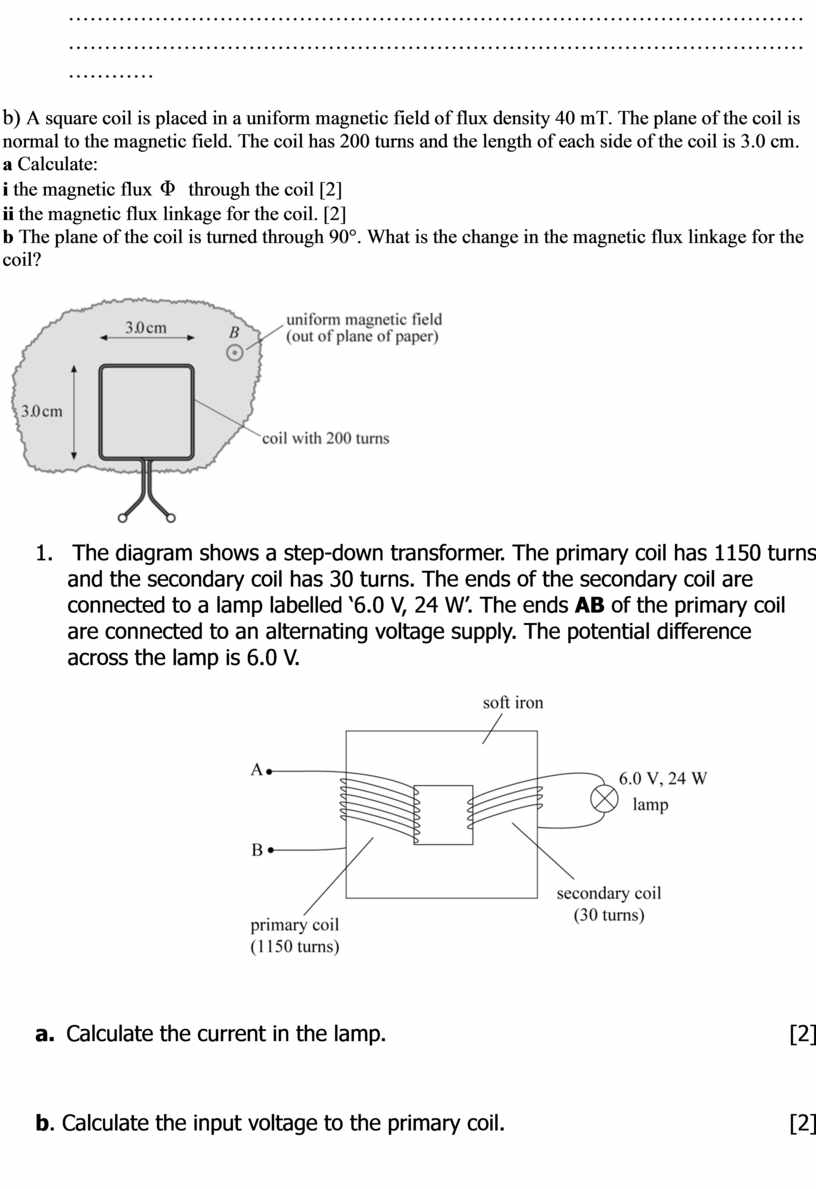 A square coil is placed in a uniform magnetic field of flux density 40 mT