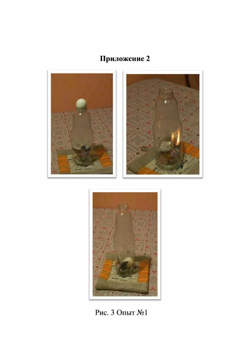 Приложение 2 Рис. 3 Опыт №1