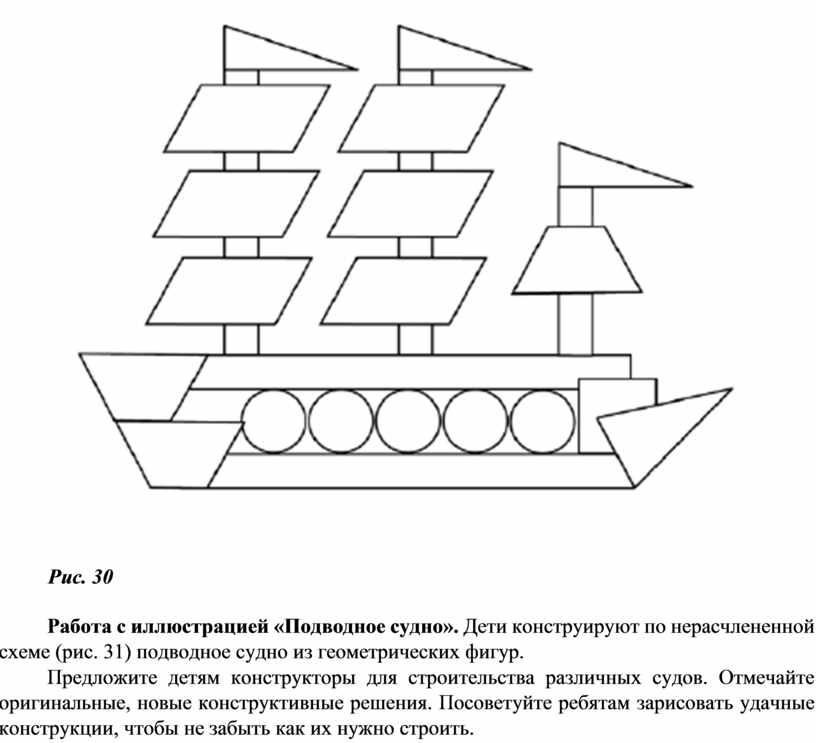Рис. 30 Работа с иллюстрацией «Подводное судно»