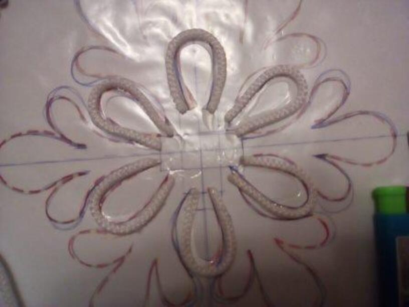 """МК Новогодняя снежинка в технике """"джутовая филигрань"""". (технология, доп. образование)"""