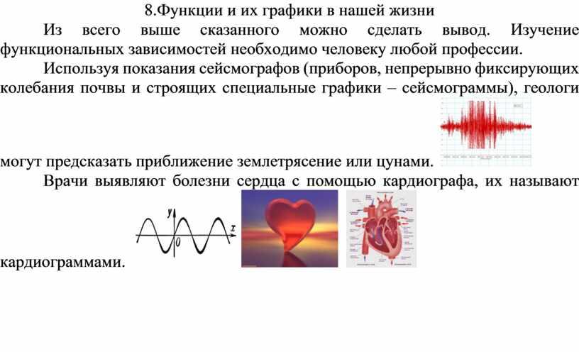Функции и их графики в нашей жизни