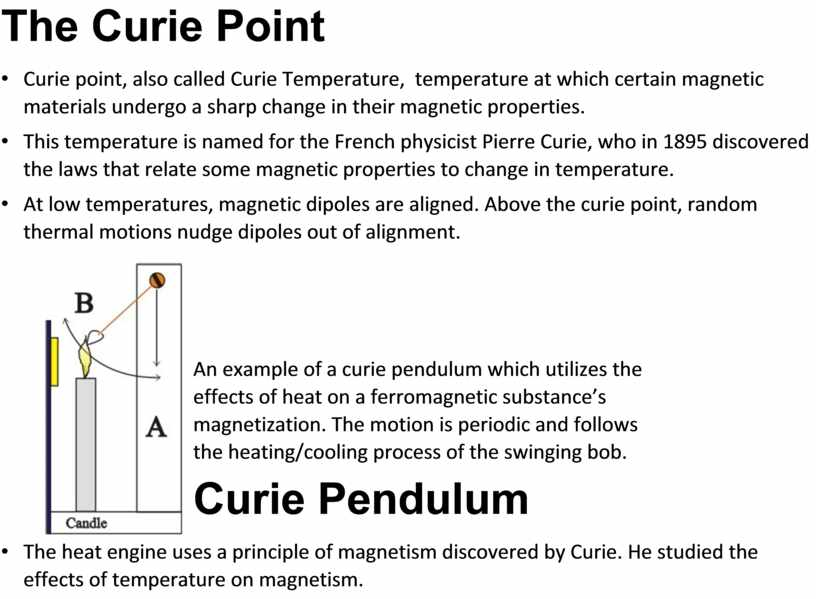 The Curie Point • Curie point, also called