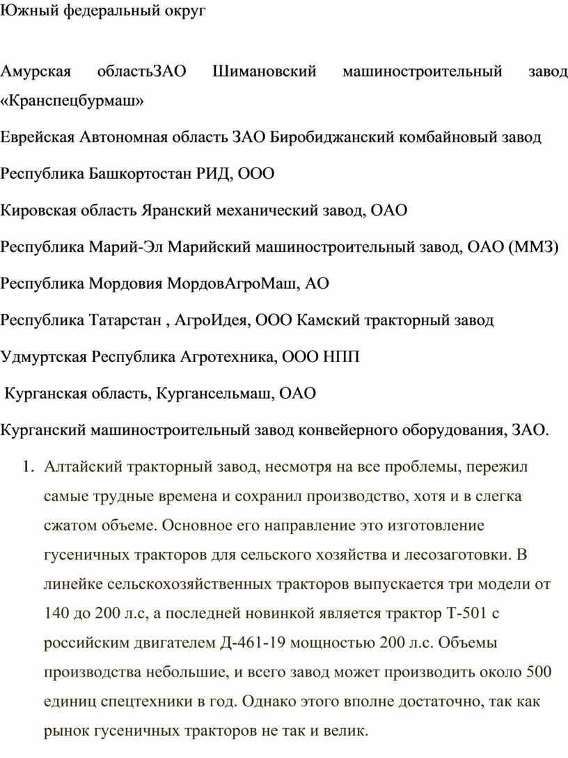 Южный федеральный округ Амурская областьЗАО