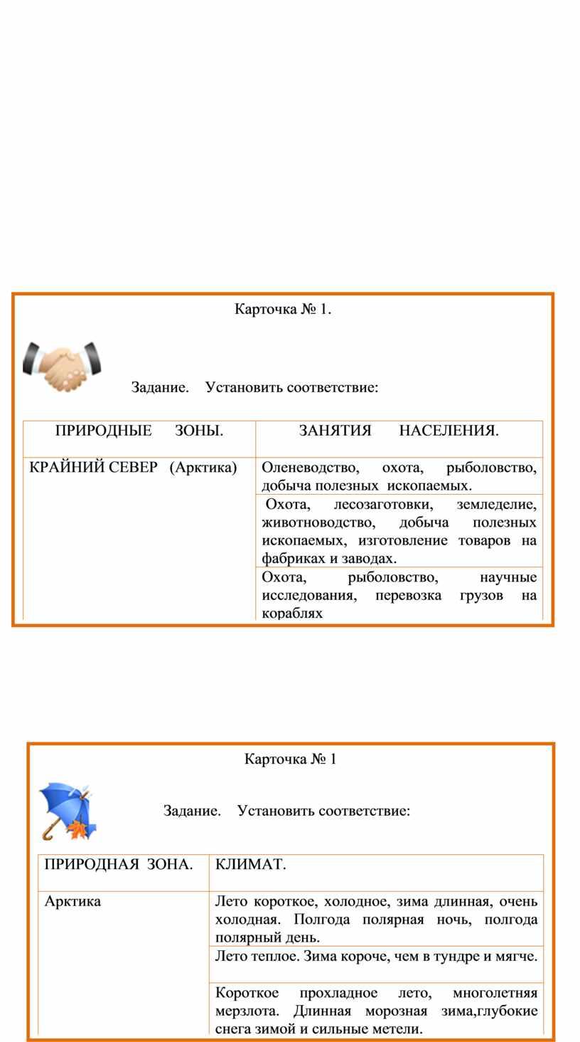 Тема урока: Природные зоны России.   4 класс