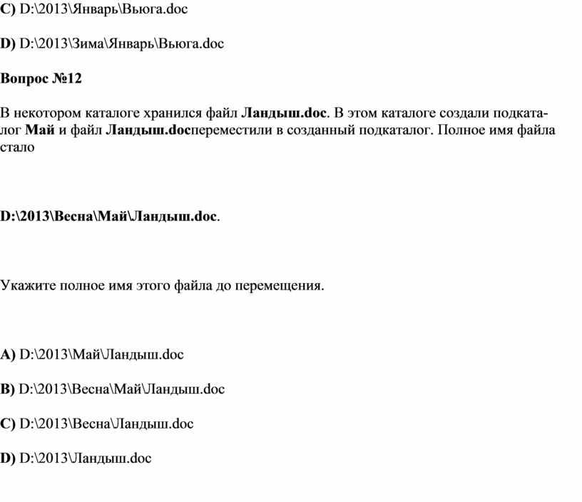 C) D:\2013\Январь\Вьюга.doc