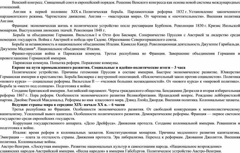 Венский конгресс. Священный союз и европейский порядок