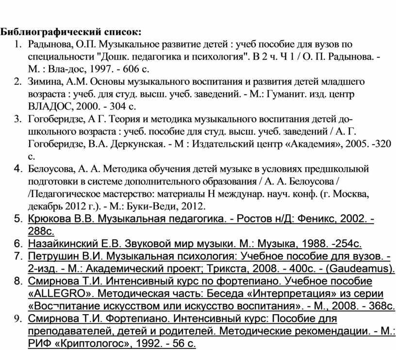 Библиографический список: 1