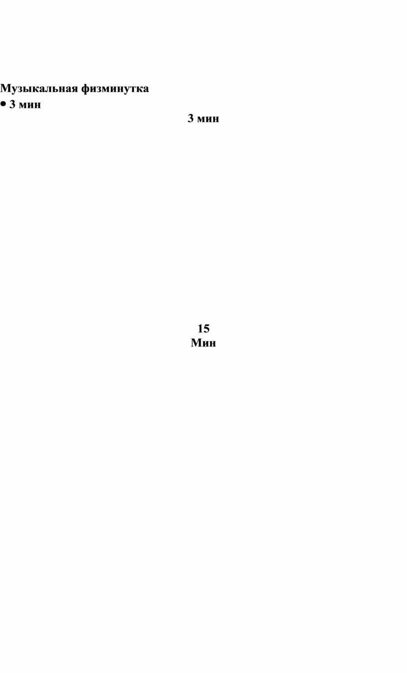 Музыкальная физминутка 3 мин 15
