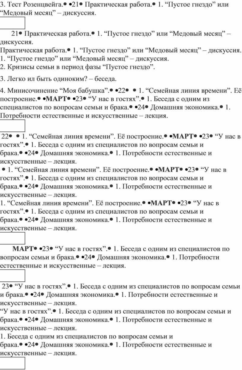 Тест Розенцвейга. 21Практическая работа