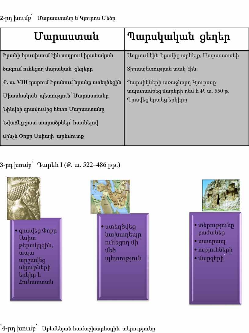 VIII դարում Իրանում նրանք ստեղծեցին Միասնական պետություն՝ Մարաստանը Նինվեի գրավումից հետո Մարաստանը Նվաճեց շատ տարածքներ՝ հասնելով մինչև Փոքր Ասիայի արևմուտք Ապրում էին Էլամից արևելք ,…