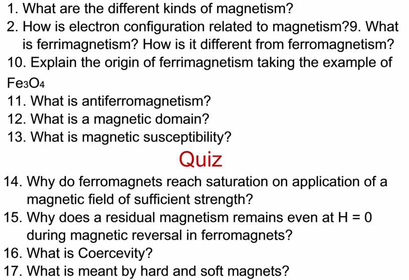 What are the different kinds of magnetism? 2