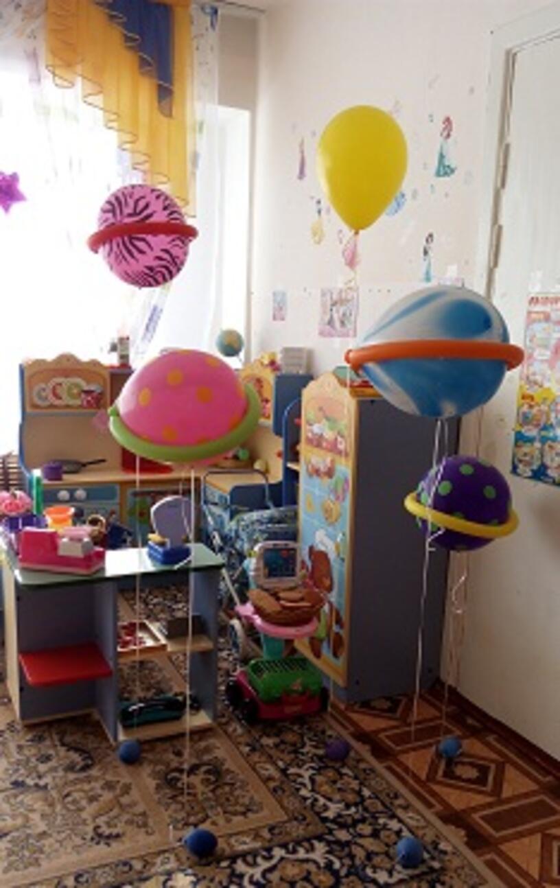 """""""Солнечная система"""" для оформления групп в детских садах ко Дню Космонавтики"""