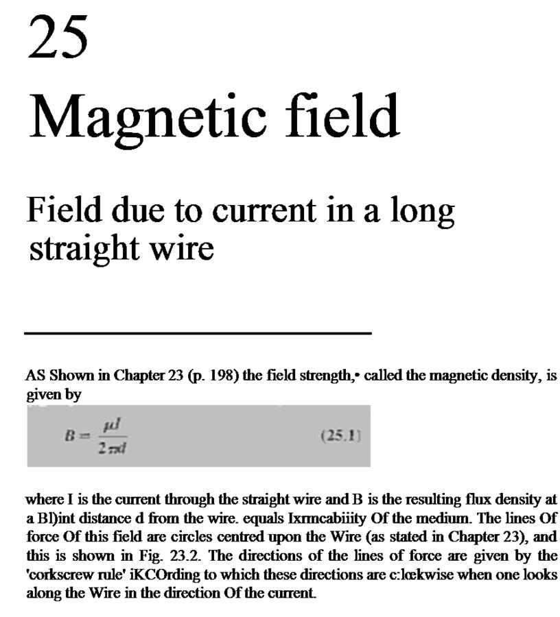 Magnetic field Field due to current in a long straight wire